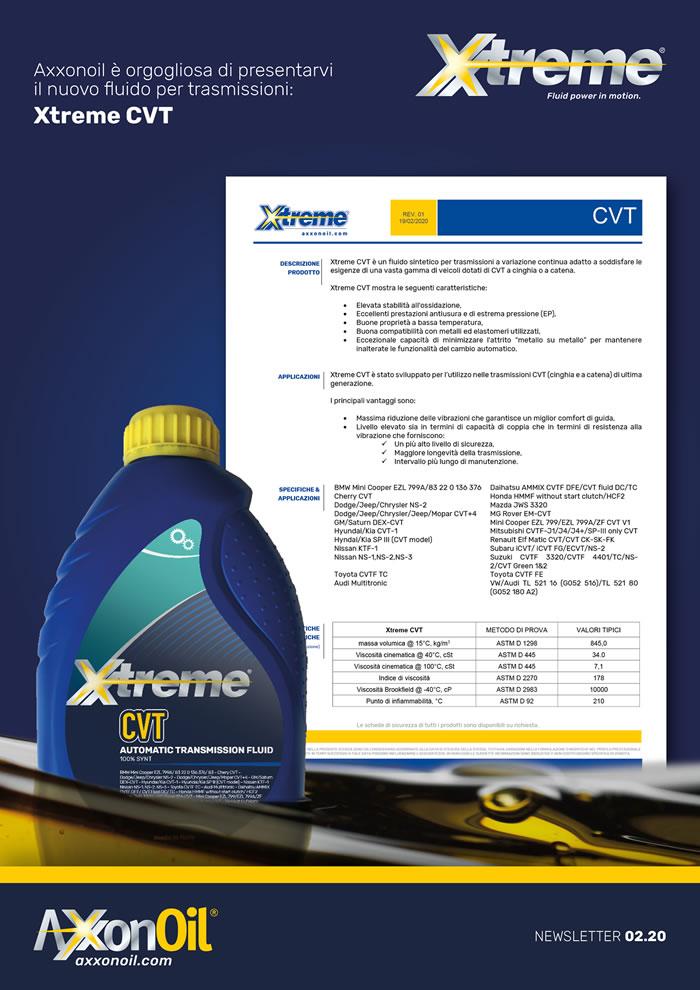 Xtreme CVT scheda tecnica
